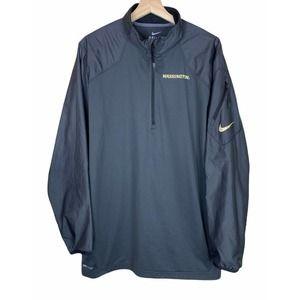 Univ Washington Huskies Nike Dri Fit Zip Pullover